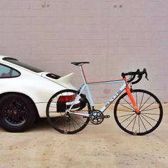 classic Porsche and Gulf-Bicycle #porsche