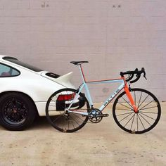 classic Porsche and Gulf-Bicycle #porsche
