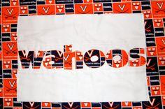Wahoos UVA Burp Cloth by harperhewitt on Etsy, $12.00