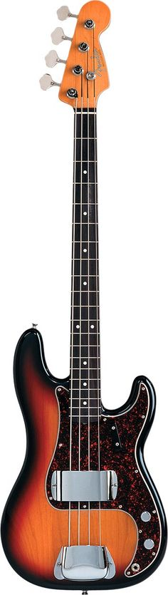 1962 Fender Precision Bass: Awesome looking bass. Played great. Later replaced the pickup for a Dimmarzio. Later, refinished it to a natural walnut finish with all brass parts. Owned this for a long time.