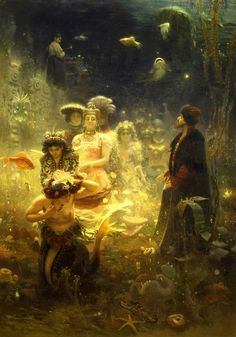 Ilya Repin, sadko in the underwater kingdom