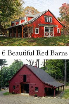 6 Beautiful Red Horse Barns Barn Renovation American Barn