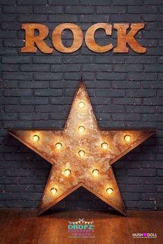 Rad Rock Star  #backdrop #backdrops #dropz #backdropsaustralia #studiobackdrop #photographybackdrop #cakedrop #photography #photobackdrop #photobackground