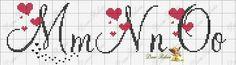 Cross Stitch Alphabet Patterns, Embroidery Alphabet, Cross Stitch Letters, Cross Stitch Borders, Cross Stitch Baby, Embroidery Fonts, Cross Stitch Designs, Cross Stitching, Cross Stitch Embroidery