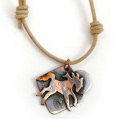 Copper Horse pendant, for men or women. Beautiful!