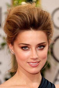 Alfombra roja Golden Globes 2014 belleza - Amber Heard #Hairdo