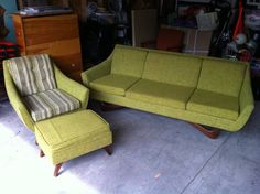 Sofa, Chair, And Ottoman, By Style House Custom Furniture By Montgomery  Ward.