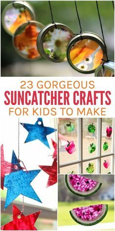 23 Gorgeous Suncatcher Crafts for Kids is part of Kids Crafts For Boys - These suncatcher crafts are so much fun for kids! And once you learn the technique to make these suncatchers, you'll be able to make them for every season Crafts For Kids To Make, Craft Activities For Kids, Preschool Crafts, Projects For Kids, Craft Projects, Kids Crafts, Craft Ideas, Arts And Crafts For Kids For Summer, Easy Crafts For Toddlers