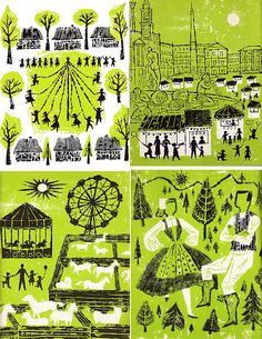 Helen Borten Illustration Heaven Part 1 Philippine Mythology, A Wrinkle In Time, Children's Book Illustration, Retro Illustrations, Inspirational Artwork, Vintage Prints, Painting & Drawing, Illustrators, Mid Century