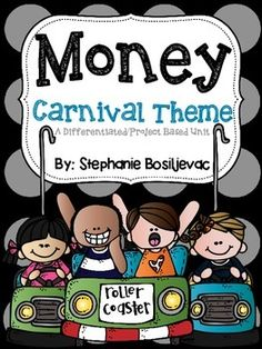 Money (Project Based Learning-Make a Carnival) by Second Grade Sweets 2nd Grade Activities, 2nd Grade Math, Second Grade, Carnival Classroom, Learning Money, Money Worksheets, School Fun, Summer School, Math Projects