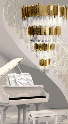 Staircase Chandelier: Amazing Designs That Will Blow Your Mind Chandelier, Crystal Lighting, Lamp, Key Details, Inspiration, Wall Lamp, Home Decor, Ceiling Lights