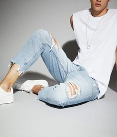 Super skinny ripped jeans - Bershka #super #skinny #ripped #jeans #bershka