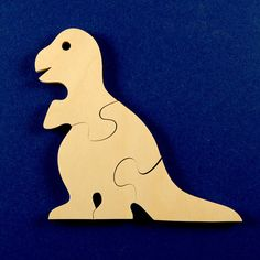 Wood Dinosaur Puzzles Set of 3 Childrens Wooden by nwwoodcrafters