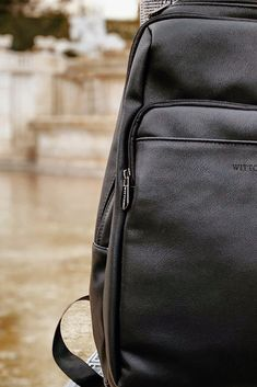 Black backpack   WITTCHEN Photo by: @who_is_mike_ on Instagram #wittchen #backpack #black #men #fashion