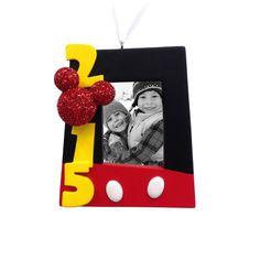 Disney Mickey Mouse 2015 Photo Frame Christmas Ornament