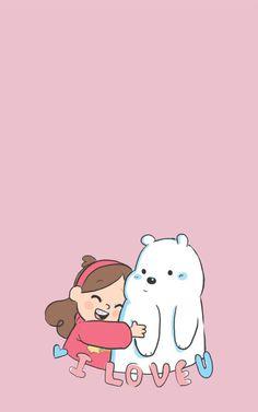 Panda Panpan Polar Bear Ice Bear Grizzly Bear Grizz We Bare Bears simply me Cute Wallpaper Backgrounds, Wallpaper Iphone Cute, Cute Cartoon Wallpapers, Mobile Wallpaper, Ice Bear We Bare Bears, We Bear, Bear Wallpaper, Kawaii Wallpaper, Walpapers Iphone