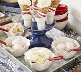 {waffle-cone stoneware dishes}