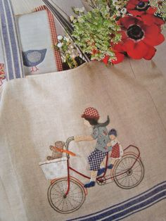 Cutest market bag ever. looks like embroidery & applique