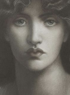 "Dante Gabriele Rossetti, study of Jane Morris for ""Mnemosyne"""
