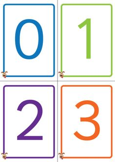 Teacher's Pet - Colourful Number Cards 0-50 - FREE Classroom Display Resource - EYFS, KS1, KS2, numbers, flash. cards, 50