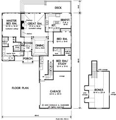 Ranch Floor Plans With Two Master Suites Ranch Home Plan And