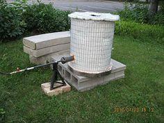 Carls Pottery and Life Blog: Home made Raku kiln in action!