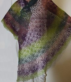 "Enjoy my first design - the ""Peacock Princess"" lace shawl."
