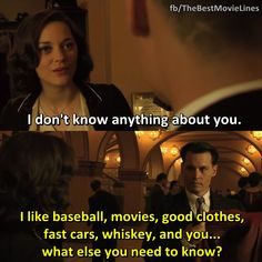 - Johnny Depp and Marion Cotillard in Public Enemies (2009)