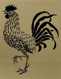 This rooster clip art comes as a crisp, clear, large (longest side is about 10.5) 300ppi .png image with a transparent background. It can easily be