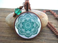 "Halskette ""Green Mandala""  von garden of shambala auf DaWanda.com"