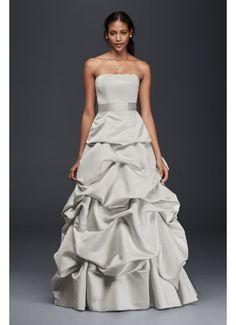 Strapless Drop-Waist Ball Gown with Skirt Pickups OP1282