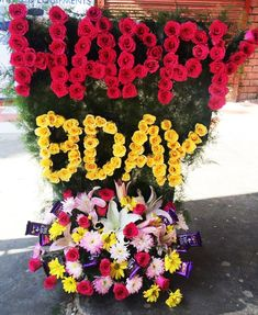 Happy Birthday Flower and Chocolate Bouquet | | - happy birthday flower bouquet pictures
