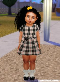 The Sims 4 Kids Lookbook — Downloads Sims 4 Toddler Clothes, Sims 4 Cc Kids Clothing, Toddler Girl Outfits, Kids Outfits, Toddler Dress, Toddler Stuff, Toddler Fashion, Toddler Girls, Girl Fashion