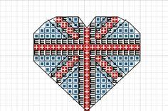 Craft with Ruth Cartwright: Free Union Jack Heart Cross stitch pattern