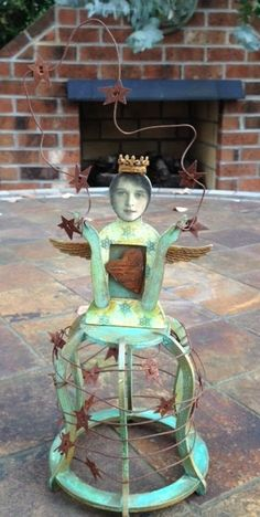 Santos Cage Doll by AppleOfMyEyeCrafts on Etsy, $38.00