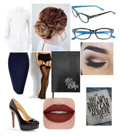 """""""Untitled #60"""" by aya-jackson on Polyvore featuring Alaïa, Lilly Pulitzer, Wolford, Christian Louboutin and Sloane Stationery"""