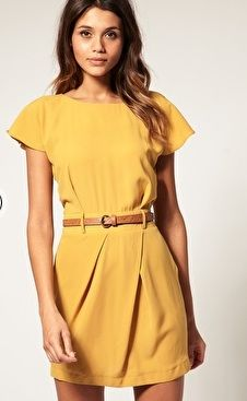 yellow dress. can double for summer and fall wear.
