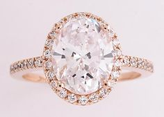 this estate style engagement ring features a hand cut and polished 275ct oval cubic zirconia - High Quality Cubic Zirconia Wedding Rings