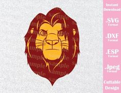 Lion King Animal Kingdom Simba Disney Inspired Family Vacation Cutting File in SVG, ESP, DXF and JPEG Format