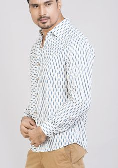 Block printed cotton shirts tops and shirt BS Each 3 This shirt is constructed from a handle cotton with block prints pattern .This cotton shirts ensure comfort and fit that easily outshines others.*classic collar shirt *semi formal shirt *Full sleeves *Front buttoned