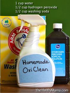 Laundry Stains:  Eco-Friendly Remedies like All-purpose, Homemade Oxiclean and Laundry Brightener