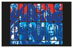 Suicide Squad Group Movie Blacklight Poster 24x36 - Poster Foundry