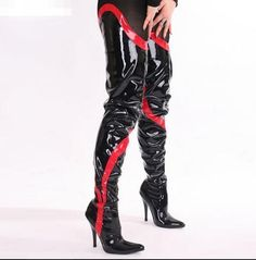 Plus Size Over-the-Knee Boots Mixed Colors Sexy Thin Heels High-heeled Long Women Boots Patent Leather Motorcycle Boots Thigh High Boots, High Heel Boots, Over The Knee Boots, Shoe Boots, Women's Shoes, Leather Motorcycle Boots, High Leather Boots, Patent Leather, Hot High Heels