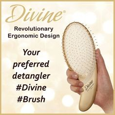 Tangles - we all have them, right? Now there's a solution, our #Divine #hairbrush. Its ergonomic shape fits perfectly in the palm of your hand for optimal control when taming your tresses.  #OliviaGarden #BeautyTools