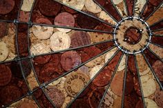 I am really going to do this some day!  Wine Cork, Dart Board.  From  beautiful shades of laughter