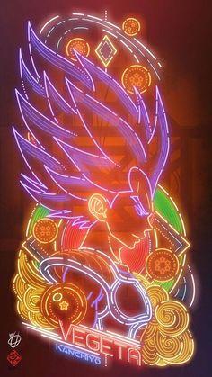 Dragon Ball the neon type fan of Kanchiyo Dragon Ball Gt, Dragonball Anime, Super Anime, Pop Art Wallpaper, Z Arts, Fan Art, Awesome Anime, Artwork, User Profile