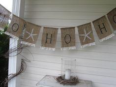 ho ho ho banner with starfish