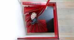 Attic stairs   space saving stairs by EeStairs