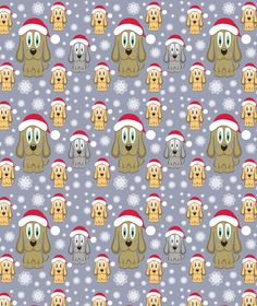 Buy Vector Christmas Dog Seamless Pattern by Ksenix on GraphicRiver. Vector illustration of dog in red Christmas hat and snowflakes, RGB, vector christmas illustration of a cartoon dog i.