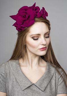 Rachel Trevor - Morgan Millinery, A/W Wedding Headband, Wedding Hats, Fascinator Headband, Fascinators, Headpieces, Flapper Headpiece, Mad Hatter Hats, Corte Y Color, Fancy Hats